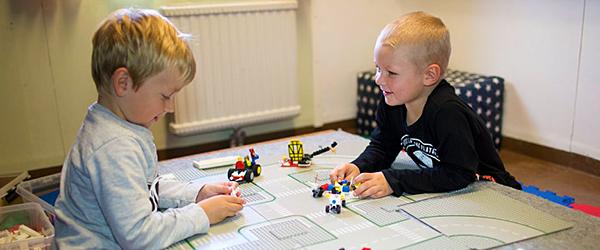 Barn på förskolan Myran