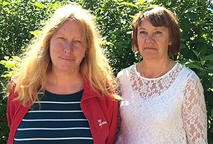 Pia Hellström och Ylva Engvall