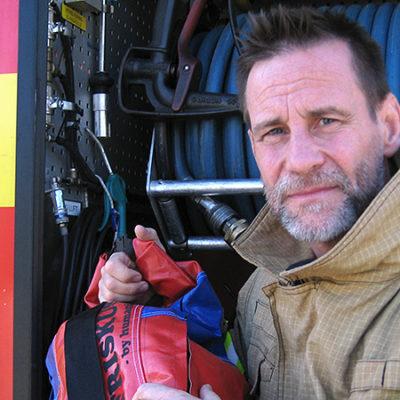 Brandmannen Stefan Magnusson.