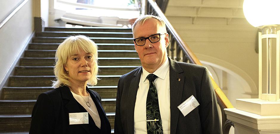 Britt-Marie Henriksson och Håkan Olsson, projektledare och chef för inspektionsavdelningen på Arbetsmiljöverket presenterade sina resultat från kampanjen Friska arbetsplatser förebygger stress på årets Arbetsmiljöriksdag i Stockholm.