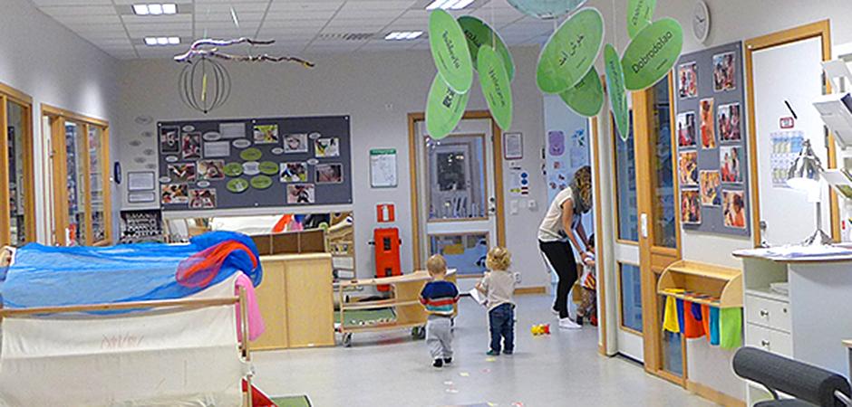 Förskolan Vargen i Sundbyberg ligger i ett miljövänligt hus och använder sig av Reggio Emilio-pedagogiken.