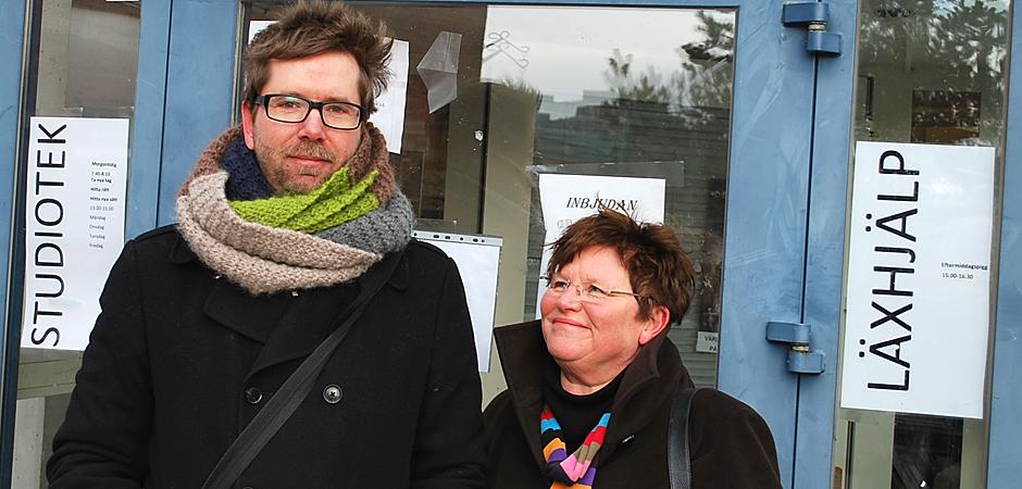 Reine Hindberg, huvudskyddsombud, och Karin Bergstrand, HR-chef i förvaltningen.