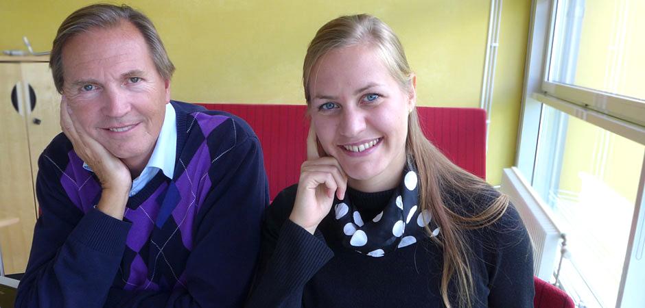 Jörgen Eklund, professor i ergonomi på KTH, och doktoranden Linda Rolfö.