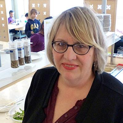 Resursläraren Karin Hellgren.