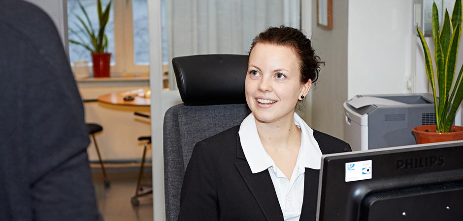Nina Molin städare och receptionist Lyckese lasarett