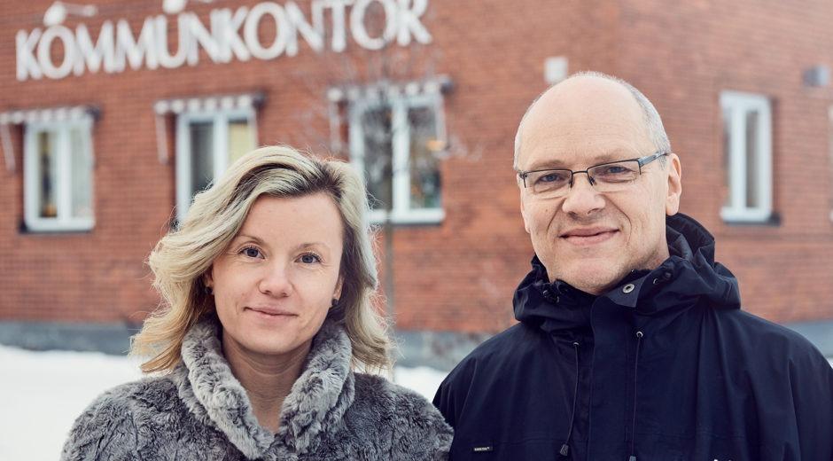 Liza Wikström och Tom Norrgård Vindelns kommun