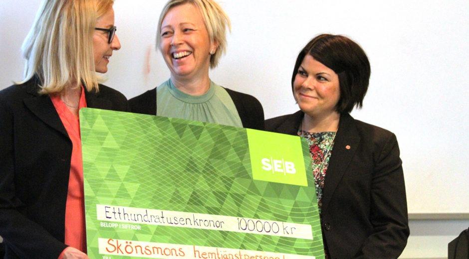 Skönsmons hemtjänst får pris av Ribbingska minnesfonden