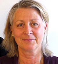 Porträtt ljushårig Eva Thulin Skantze, verktyget Stress och balans