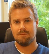 porträtt fredrik sjödin, doktor i yrkes- och miljömedicin och forskare vid Institutionen för psykologi på Umeå universitet.