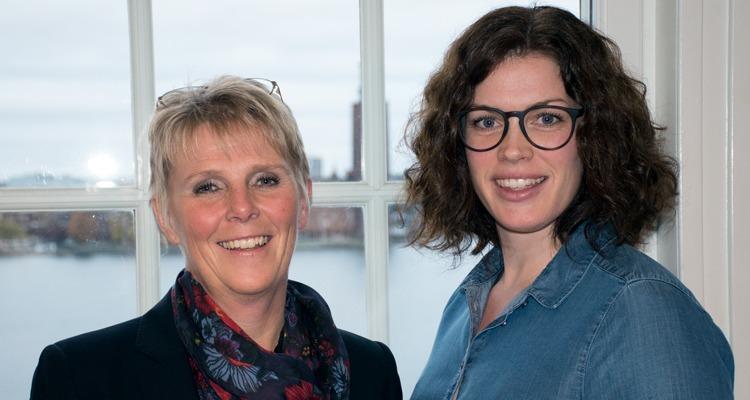 Porträtt Susanne Åhman och Therese Brunbäck, tema hållbara arbetstider.