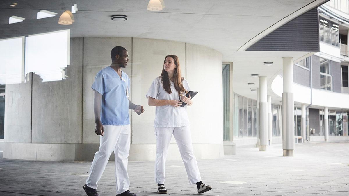 Vårdteam på sjukhus