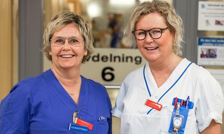 Helén Gustafsson, undersköterska, och Helene Hallman, sjuksköterska, är handledare vid medicinavdelning 6, Skaraborgs sjukhus i Lidköping.
