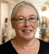 Porträttbild på språkombudet Eva Tobiasson.