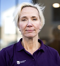 Porträtt på Mia Gunnhagen, enhetschef.