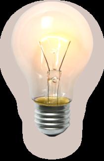 Glödlampa med varmt ljus.