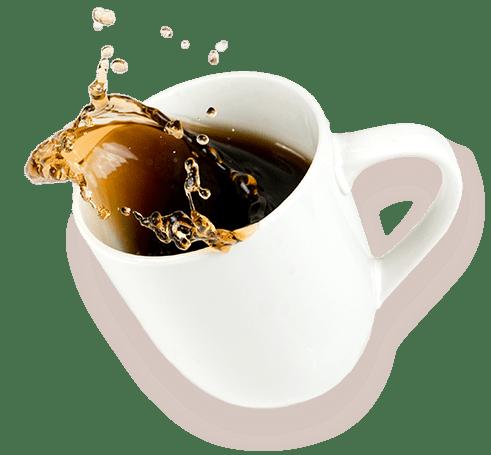 Kaffekopp välter