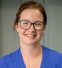 porträtt av Mikaela Siver, sjuksköterska på ögonmottagningen på Uddevalla sjukhus.